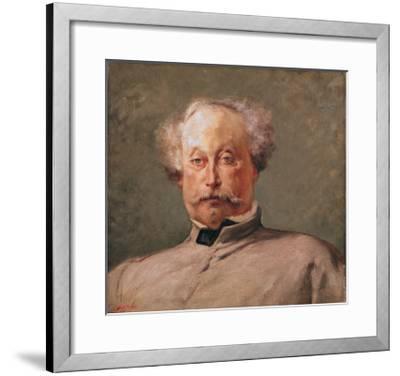Portrait of Alexandre Dumas Fils (1824-95)-Georges Clairin-Framed Giclee Print