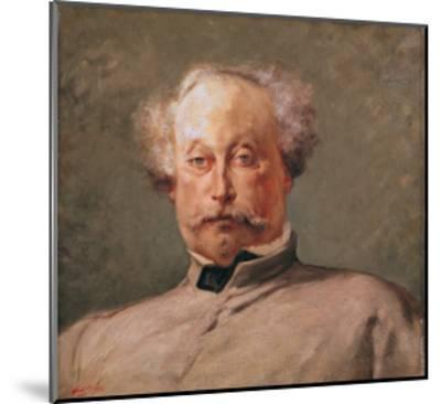 Portrait of Alexandre Dumas Fils (1824-95)-Georges Clairin-Mounted Giclee Print
