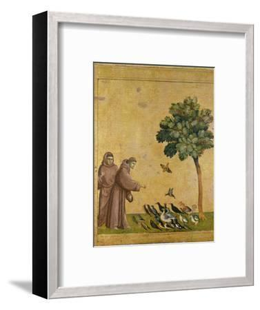 St. Francis of Assisi Preaching to the Birds-Giotto di Bondone-Framed Premium Giclee Print
