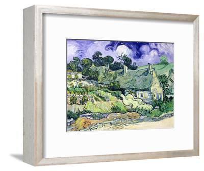 Thatched Cottages at Cordeville, Auvers-Sur-Oise, c.1890-Vincent van Gogh-Framed Premium Giclee Print