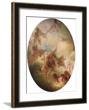 The Swarm of Cupids, circa 1767-Jean-Honor? Fragonard-Framed Giclee Print