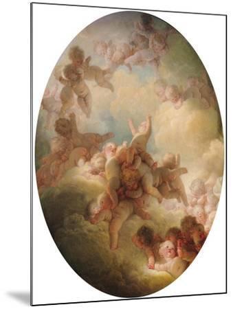 The Swarm of Cupids, circa 1767-Jean-Honor? Fragonard-Mounted Giclee Print