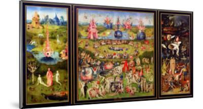 The Garden of Earthly Delights, circa 1500-Hieronymus Bosch-Mounted Giclee Print