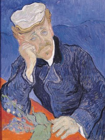 Dr. Paul Gachet, c.1890-Vincent van Gogh-Stretched Canvas Print