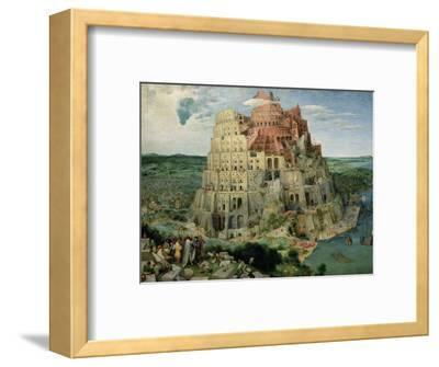 The Tower of Babel, c.1563-Pieter Bruegel the Elder-Framed Premium Giclee Print