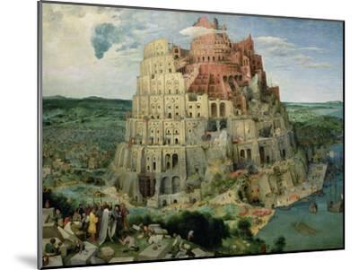 The Tower of Babel, c.1563-Pieter Bruegel the Elder-Mounted Giclee Print