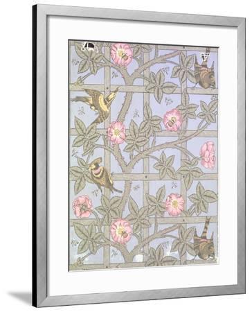 """""""Trellis"""" Wallpaper Design, 1864-William Morris-Framed Giclee Print"""