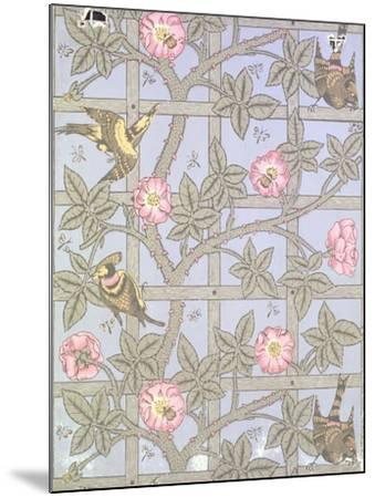"""Trellis"" Wallpaper Design, 1864-William Morris-Mounted Giclee Print"