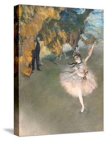 The Star, or Dancer on the Stage, circa 1876-77-Edgar Degas-Stretched Canvas Print