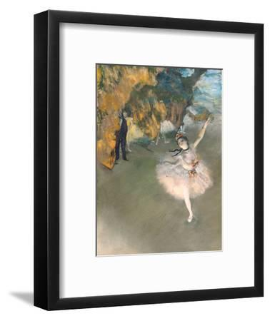 The Star, or Dancer on the Stage, circa 1876-77-Edgar Degas-Framed Premium Giclee Print