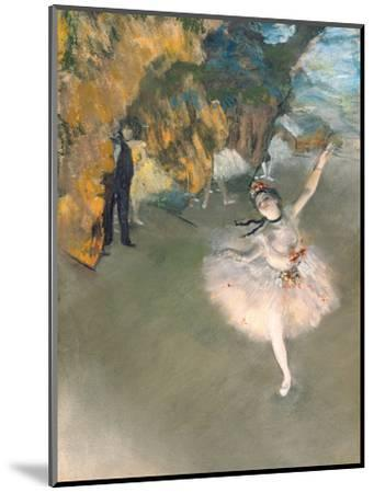 The Star, or Dancer on the Stage, circa 1876-77-Edgar Degas-Mounted Premium Giclee Print
