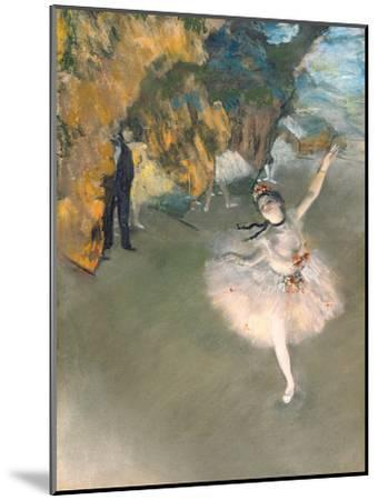 The Star, or Dancer on the Stage, circa 1876-77-Edgar Degas-Mounted Giclee Print