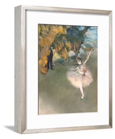 The Star, or Dancer on the Stage, circa 1876-77-Edgar Degas-Framed Giclee Print