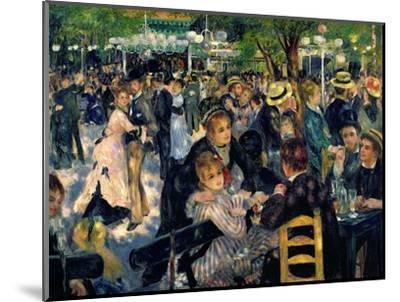 Ball at the Moulin De La Galette, 1876-Pierre-Auguste Renoir-Mounted Premium Giclee Print