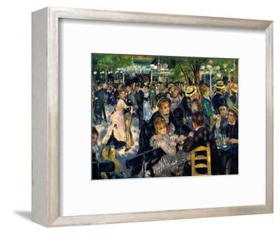 Ball at the Moulin De La Galette, 1876-Pierre-Auguste Renoir-Framed Premium Giclee Print