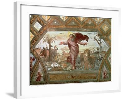 God Creating the Earth-Raphael-Framed Giclee Print