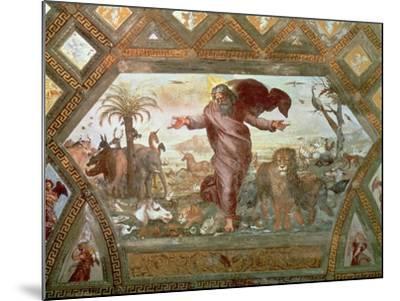 God Creating the Earth-Raphael-Mounted Giclee Print