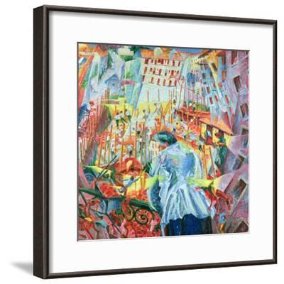 The Street Enters the House, 1911-Umberto Boccioni-Framed Giclee Print