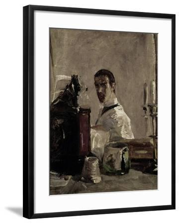 Self Portrait, 1880-Henri de Toulouse-Lautrec-Framed Giclee Print