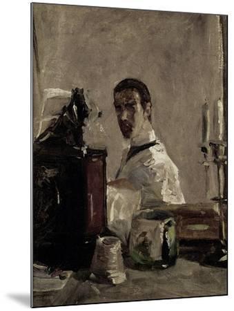 Self Portrait, 1880-Henri de Toulouse-Lautrec-Mounted Giclee Print
