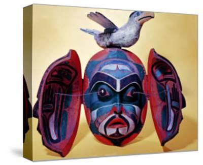 Revelation Mask, Kwakiutl People--Stretched Canvas Print