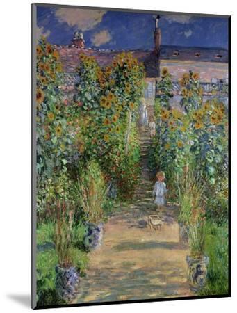 The Artist's Garden at Vetheuil, 1880-Claude Monet-Mounted Premium Giclee Print