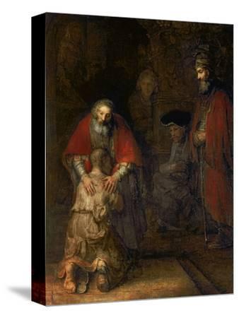 Return of the Prodigal Son, circa 1668-69-Rembrandt van Rijn-Stretched Canvas Print