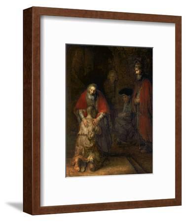 Return of the Prodigal Son, circa 1668-69-Rembrandt van Rijn-Framed Premium Giclee Print