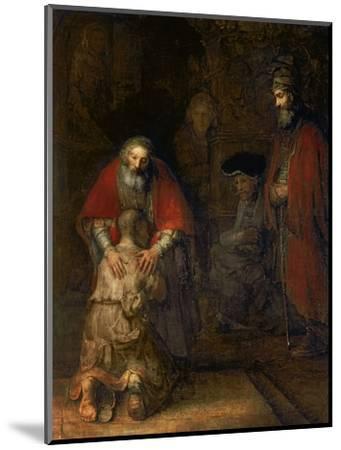 Return of the Prodigal Son, circa 1668-69-Rembrandt van Rijn-Mounted Premium Giclee Print