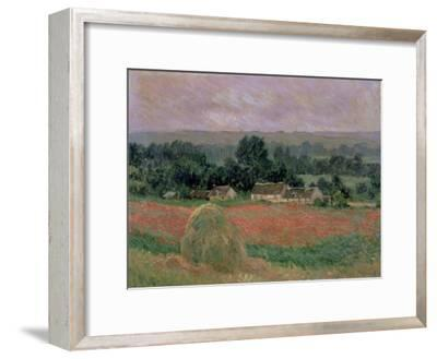 Haystack at Giverny, 1886-Claude Monet-Framed Giclee Print