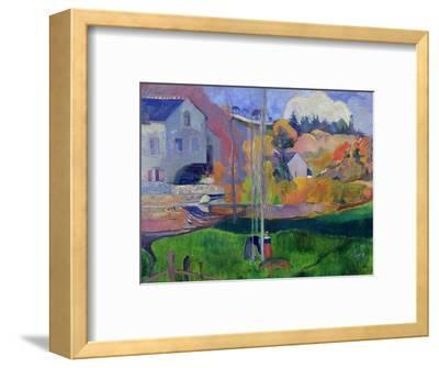 Brittany Landscape: the David Mill, 1894-Paul Gauguin-Framed Premium Giclee Print