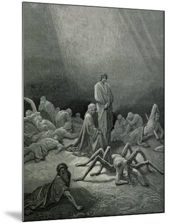 """Arachne, from the 12th Canto of Dante's """"Purgatory""""-Gustave Dor?-Mounted Giclee Print"""