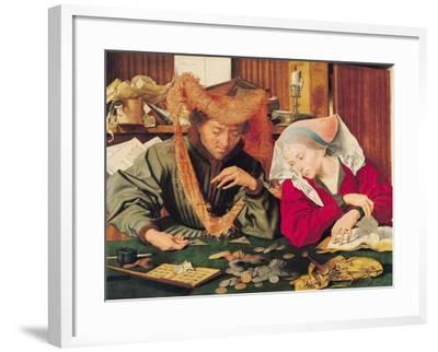 The Money Changer and His Wife, 1539-Marinus van Roejmerswaelen-Framed Giclee Print