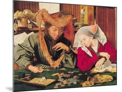 The Money Changer and His Wife, 1539-Marinus van Roejmerswaelen-Mounted Giclee Print