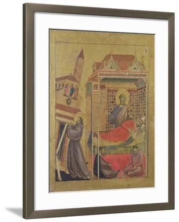 The Vision of Pope Innocent III, circa 1295-1300-Giotto di Bondone-Framed Giclee Print