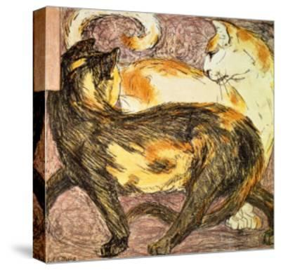 Two Cats-Franz Marc-Stretched Canvas Print