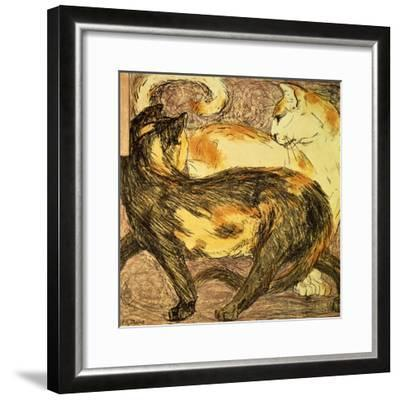 Two Cats-Franz Marc-Framed Giclee Print