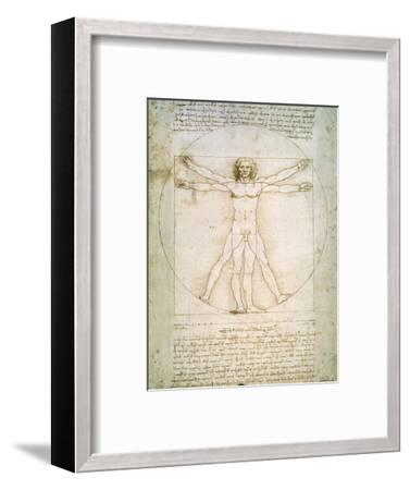 Vitruvian Man, c.1492-Leonardo da Vinci-Framed Premium Giclee Print