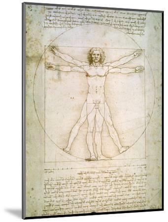 Vitruvian Man, c.1492-Leonardo da Vinci-Mounted Premium Giclee Print