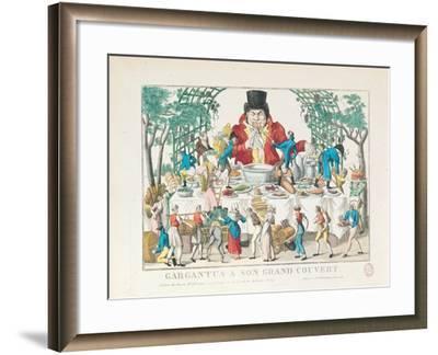 Gargantua at His Table--Framed Giclee Print