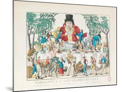Gargantua at His Table--Mounted Giclee Print