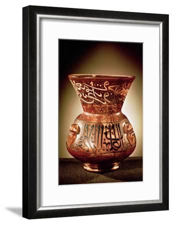 Mosque Lamp with Enamelled Decoration Inscribed with Three Quotations from the Koran--Framed Giclee Print