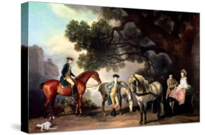 Melbourne and Milbanke Families-George Stubbs-Stretched Canvas Print