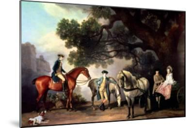 Melbourne and Milbanke Families-George Stubbs-Mounted Giclee Print