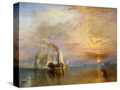 "The ""Fighting Temeraire"" Tugged to Her Last Berth to be Broken Up, Before 1839-J^ M^ W^ Turner-Stretched Canvas Print"