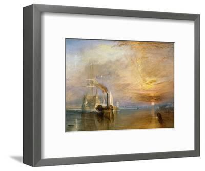 "The ""Fighting Temeraire"" Tugged to Her Last Berth to be Broken Up, Before 1839-J^ M^ W^ Turner-Framed Premium Giclee Print"