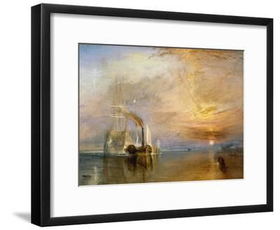 "The ""Fighting Temeraire"" Tugged to Her Last Berth to be Broken Up, Before 1839-J^ M^ W^ Turner-Framed Giclee Print"