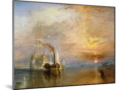 "The ""Fighting Temeraire"" Tugged to Her Last Berth to be Broken Up, Before 1839-J^ M^ W^ Turner-Mounted Giclee Print"