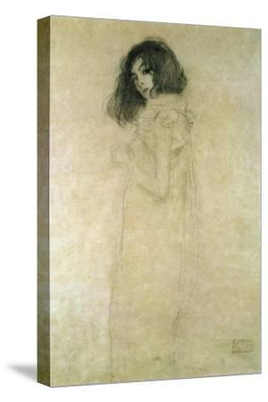 Portrait of a Young Woman, 1896-97-Gustav Klimt-Stretched Canvas Print