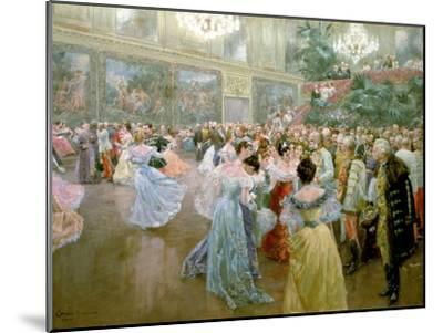 Court Ball at the Hofburg, 1900-Wilhelm Gause-Mounted Giclee Print